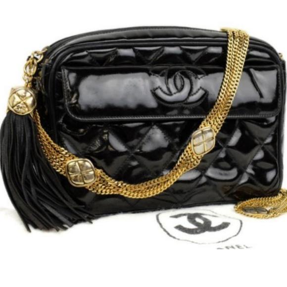 e4a1ffef16c5 CHANEL Bags   Quilted Camera Fringe Tassle Flap Bag   Poshmark
